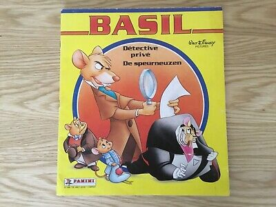 BASIL THE DETECTIVE STICKER ALBUM WITH ALL STICKERS (Inserted) By PANINI - 1986