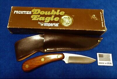 "Imperial USA made 425 ""Double Eagle"" Frontier Series Skinning Knife with Sheath."