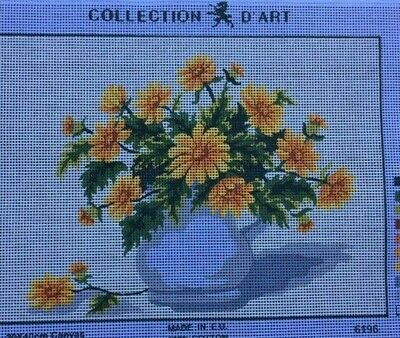 Tapestry - Printed Canvas - Yellow Flowers - Made in EU for Collection D'Art