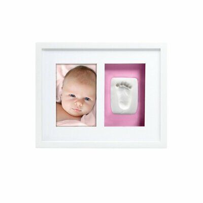 Pearhead Babyprints Newborn Handprint And Footprint Photo Wall Frame Kit, White