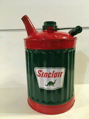 SINCLAIR Vintage GAS Kerosene CAN Station Oil Co Sign  1 Gallon Spout USA Star