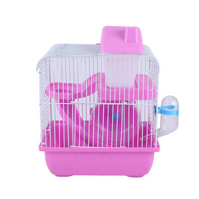 2-Tier Hamster Cage Small Rodent House Gerbil Mice Mouse Cages Animal Play Home