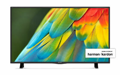 "Sharp LC-43CFF6001K 43"" Inch Smart LED TV Full HD 1080p Freeview HD WiFi USB"