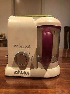 BEABA BABYCOOK SOLO BABY FOOD PROCESSOR STEAM COOK BLEND DEFROST White