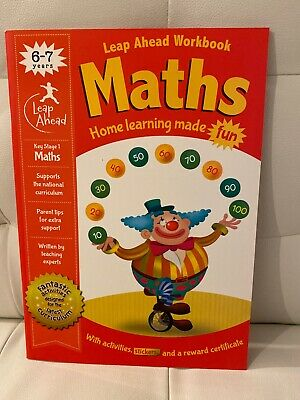 MATHS Leap ahead Home Learning Workbooks For Kids Age 6-7 years New
