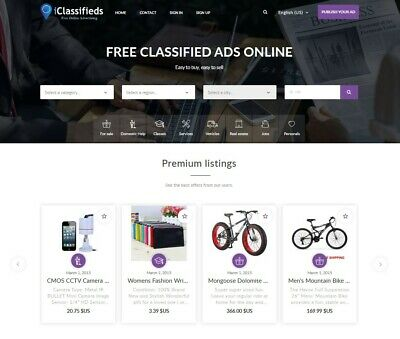 Free Advertising Classifieds Website, Free Install + Hosting