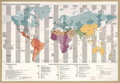 1996 to 1997 map United States foreign service posts and Department of State jur