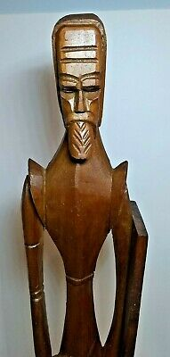 """Vintage Wood Carved Don Quixote Approx 19 1/2"""" Tall Nice!"""