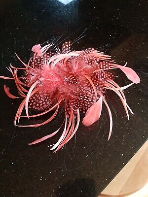 Head wear Fasinator Coral feathered ex con