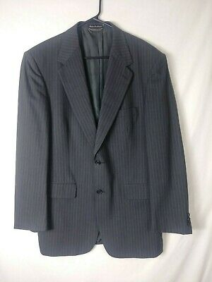 Stafford Executive Collection Mens Suit Size 42L (Pants 32x30) Gray Striped
