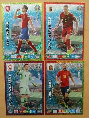 Panini  - Adrenalyn XL- Uefa Euro 2020 -  4 Sonderkarten -     Power Up Cards