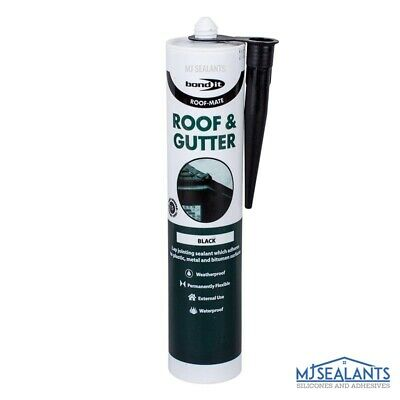 Bond It  Roof-Mate High Quality Roof and Gutter Sealant in Black 310ml