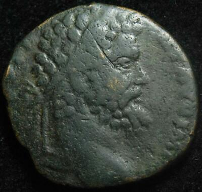 Septimius Severus AE sestertius, Victory advancing right, Rome 194AD - RIC 667