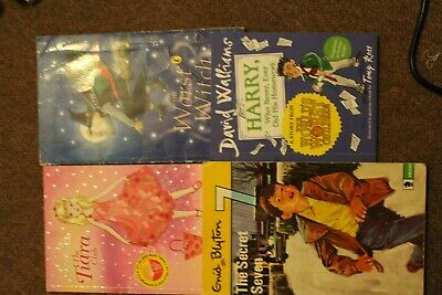 a collection of childrens books, the worst witch, princess megan, the secret 7