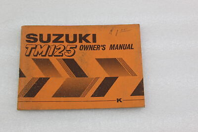 Suzuki New Old Stock Owners Manual Tm125 1973