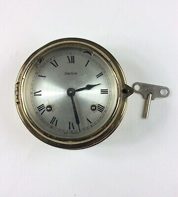Vintage Hermle Ships bell clock Germany Old Nautical