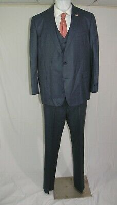Brooks Brothers 1818 Regent Vitale 1663 Flannel Weight Three Piece Suit 48R NWT