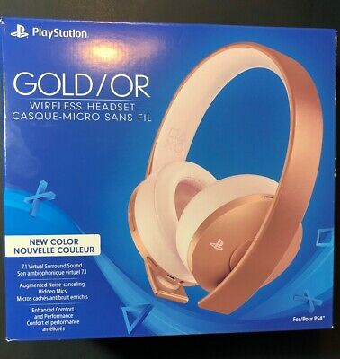 Sony PS4 GOLD Wireless Headset [ ROSE GOLD Edition ] NEW