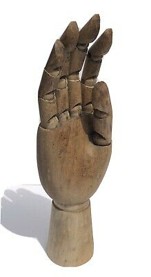 Antique Vintage Articulated Wooden Mannequin Hand