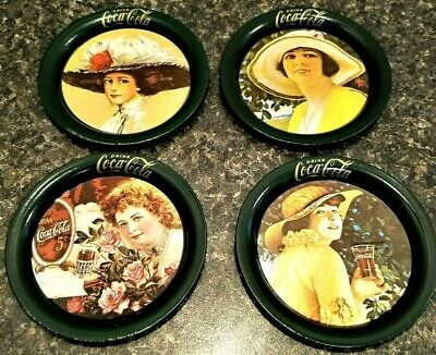 Vintage Metal Coca-Cola Coasters - Set of 4