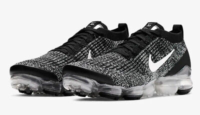 Nike Air VaporMax Flyknit3 AJ6900-002 Men's Shoe Blk/Metallic Silver sz 9-12