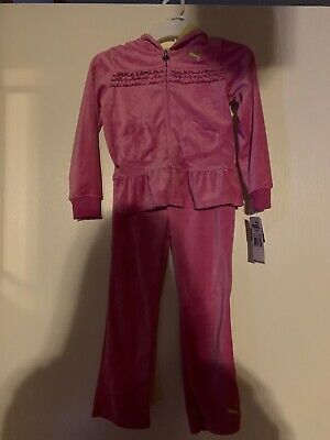 Girls Size 5 Puma Track Suit Pink