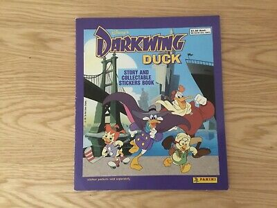 DARKWING DUCK STICKER ALBUM COMPLETE WITH ALL STICKERS (Inserted) By PANINI