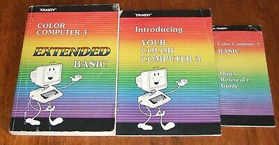Set of 3 manuals for the Tandy TRS-80 Color Comptuer 3 Coco