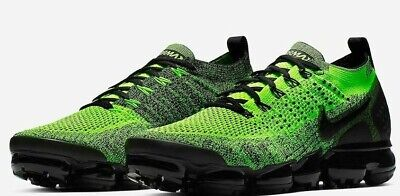 Nike Air VaporMax Flyknit 2 942842-701 Men's Shoe VOLT/BLACK sz 9-13