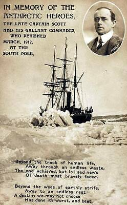 OLD PHOTO Circa 1912 Antarctic Explorer Captain Scott Memorial