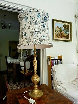 Solid brass table lamp and shade
