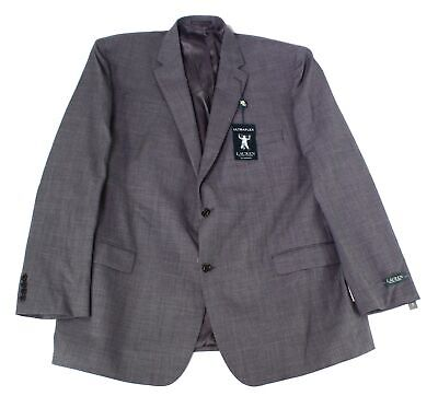 Lauren By Ralph Lauren Mens Suit Separate Gray Size 46 Two Button Wool $425 167