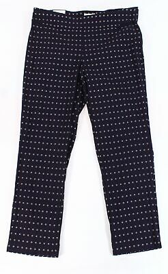 Charter Club Womens Pants Blue Size 16W Plus Printed Slim Leg Stretch $79 138