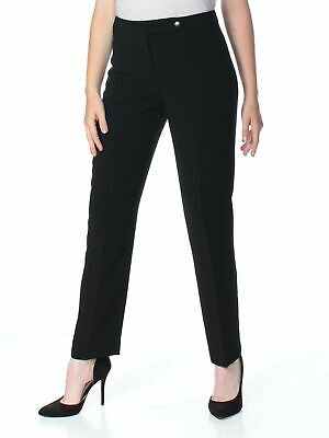 Tahari by ASL Womens Pants Ink Black Size 14 Dress Mid-Rise Solid $99 610