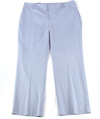 Charter Club Womens Pants Blue Size 16W Plus Dress Mid-Rise Stretch $79 434