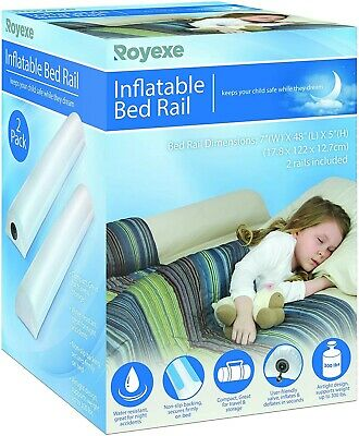 Inflatable Portable Bed Rail Bumper Kids SafetyGuard forGuard (2 Pack)