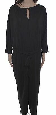 Lauren By Ralph Lauren Womens Jumpsuit Black Size 2X Plus Keyhole $165 184