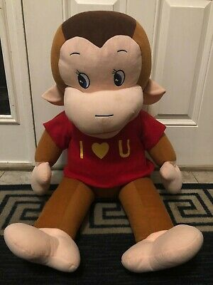 "42"" Large Curious George Plush Stuffed Animal, Very Good Shape, 4 Feet Tall"