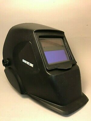 Chicago Electric Welding Adjustable Shade Auto Darkening Helmet Used ANSI Lens