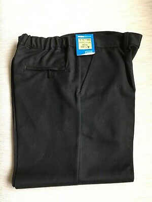 Boys Black Trousers By Marks and Spencer - Age 4 Years Plus - New With Tags