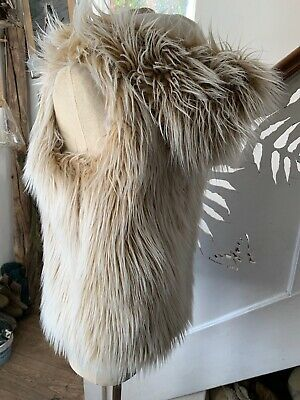 Faux Fur Gillet Age 13-14 Years (would Fit Adult Size 10)