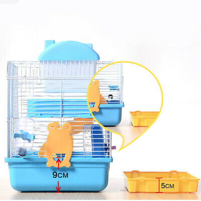 2-Tier Hamster Cage Rodent House Gerbil Mice Mouse Cages Animal Play Home Blue