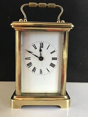 Vintage Brass Wind Up French - Carriage Clock