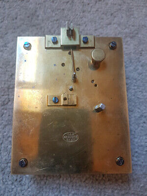 Antique French VAP Brevete Single Train Clock Movement - Sold For Parts