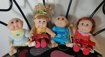 Lot of 4 NWT Cabbage Patch Kids Collectibles Dolls Mini Miniature Vintage CPK