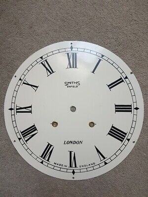 Antique 12 Inch Clock Dial Face - Smiths of Enfield London - Roman Numerals
