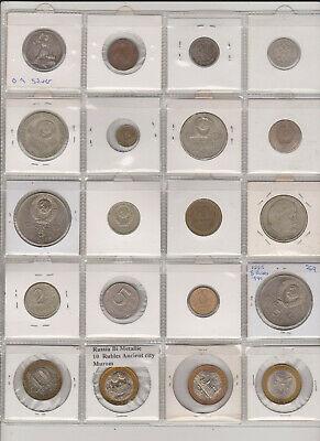 Lot of 20 Coins from USSR - Russia with Silver - Some Scarce