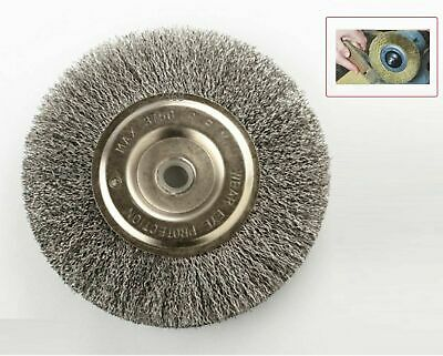 """Professional 6"""" Steel Wire Wheel Brushes For Bench Grinder 5/8 1/2 Arbor"""