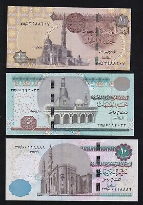 P-New UNC /> New Security Features SET Egypt 2015-2016 1;5;10 Pounds