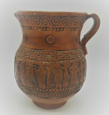 Museum Quality Ancient Greek Terracotta Vessel Corinthian Ca 400Bce